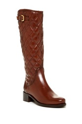 Catherine Malandrino Kylie Quilted Riding Boot Brown