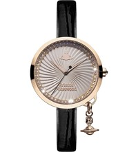 Vivienne Westwood Vv139rsbk Time Machine Stainless Steel And Leather Watch Pink