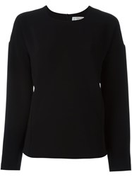 Alberto Biani Flared Longsleeved Blouse Black