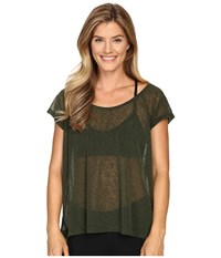 Lole Beth Short Sleeve Top Greens Women's Short Sleeve Pullover