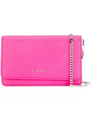 Givenchy Small 'Pandora' Chain Wallet Pink And Purple