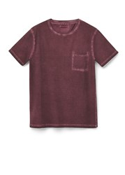 Mango Garment Dyed T Shirt Red