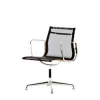Mesh Chair On Glides With Arms