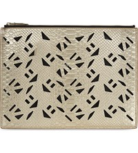 Kenzo Cut Out Leather Pouch Gold
