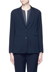 Vince Single Breasted Button Front Jacket Blue