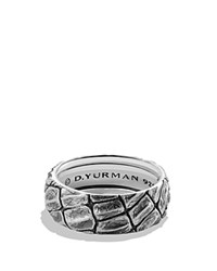 David Yurman Naturals Gator Band Ring Gray