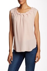 Philosophy Braided Neck Blouse Pink