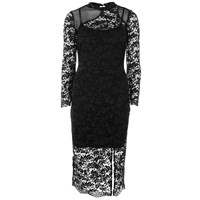 French Connection Women's Lace Full Length Dress Black