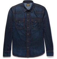 Jean Shop Hop Garth Denim Hirt Dark Denim