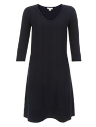 Monsoon Faye Fit And Flare Dress Navy