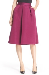 Ted Baker High Waist Full Midi Skirt Grape