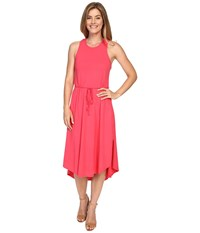 Mod O Doc Classic Jersey Crochet Racerback Tank Dress Dragonfruit Women's Dress Pink