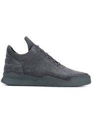Filling Pieces Suede Low Top Sneakers Grey