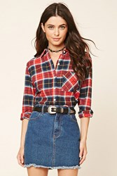 Forever 21 Woven Flannel Shirt