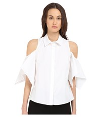 Zac Posen Dolman Sleeve Blouse White Women's Blouse