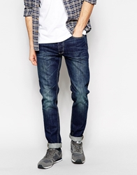 Bellfield Washed Indigo Jeans In Tapered Fit