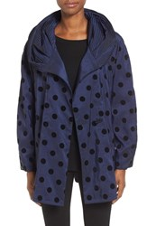 Mycra Pac Designer Wear Women's 'Mini Donatella' Polka Dot Packable Travel Coat