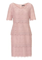 Vera Mont Tiered Lace Dress Rose