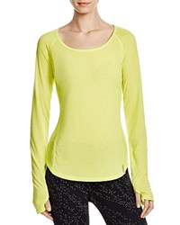 Under Armour Fly By Long Sleeve Tee Neon Yellow
