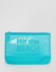 South Beach 'Hit The Beach' Pouch Turquoise Blue