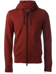 Armani Jeans Zipped Hoodie Red