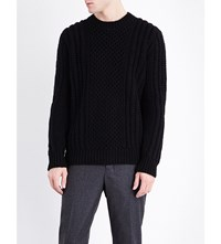 Pringle Crewneck Cashmere Jumper Black