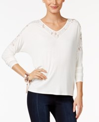 Thalia Sodi Lace Trim Top Only At Macy's Cloud
