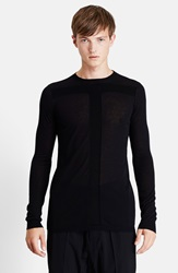 Rick Owens 'Level' Wool Crewneck Sweater Black