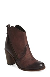 Charles David Women's 'Ivi' Angle Zip Bootie Brown Leather