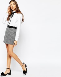 Jack Wills Mini Skirt In Christmas Shimmer Fabric Silver