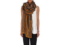 Chloe Women's Fil Coupe Fringed Scarf Yellow