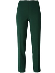 P.A.R.O.S.H. Slim Fit Cropped Trousers Green