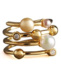 Four Band Pearl Ring Majorica