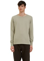 Les Basics Long Sleeved Crew Neck T Shirt Grey