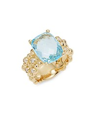 Michael Aram Blue Topaz And 18K Yellow Gold Ring Gold Blue