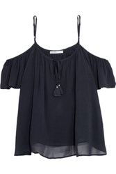 Chelsea Flower Chiffon Top Midnight Blue