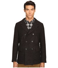 Billy Reid Bond Peacoat Brown Black Men's Coat