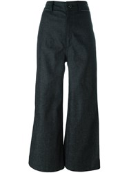 Proenza Schouler Cropped Flared Jeans Blue