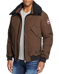 Canada Goose Bromley Aviator Shearling Collar Down Jacket Grizzly Brown