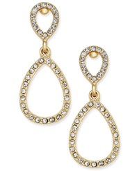 Inc International Concepts Pave Teardrop Drop Earrings Only At Macy's Gold Tone