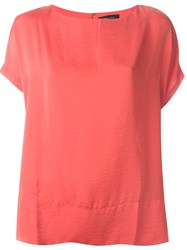 Roberto Collina Shortsleeved Blouse Red