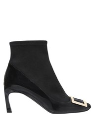 Roger Vivier 70Mm Trompette Patent And Suede Boots