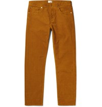 Gant Rugger Slim Fit Stretch Cotton Corduroy Trousers Camel