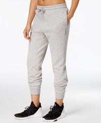 Reebok Quilted Sweatpants Medium Grey Heather