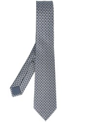 Bulgari Elephant Print Neck Tie Black