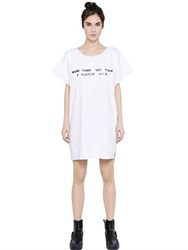Maison Martin Margiela Printed Cotton Poplin Dress