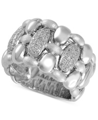 Effy Collection Balissima By Effy Final Call Ring Pebble Diamond Ring 1 3 Ct. T.W. In Sterling Silver