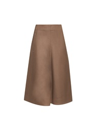 Lemaire High Waist A Line Wool Skirt