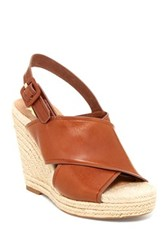 Vc Signature Davena Leather Wedge Brown