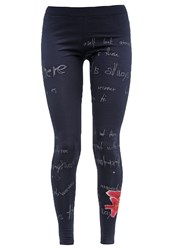 Desigual Leggings Navy Blue